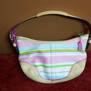 Coach bright striped small bag